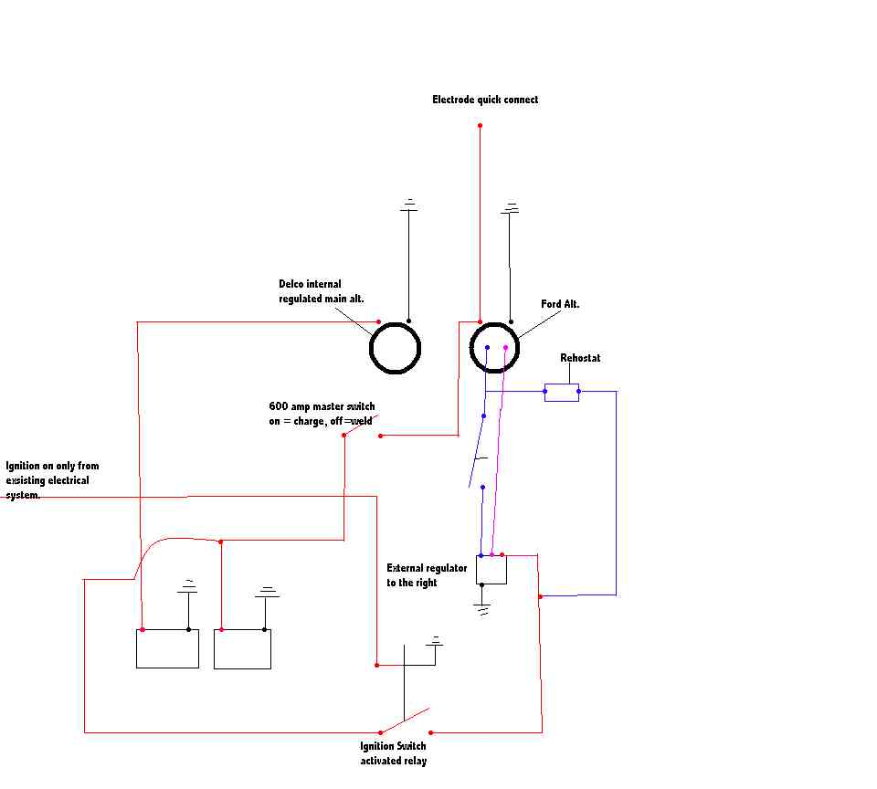 Alternator Welder Wiring Diagram Schematics Diagrams Ford Alt 32 Images Gsmx Co 12 Volt Cs130